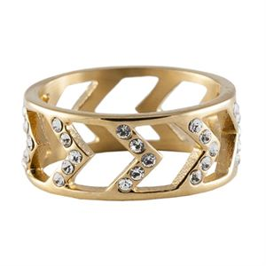Picture of Gold Chevron Ring - Size 9